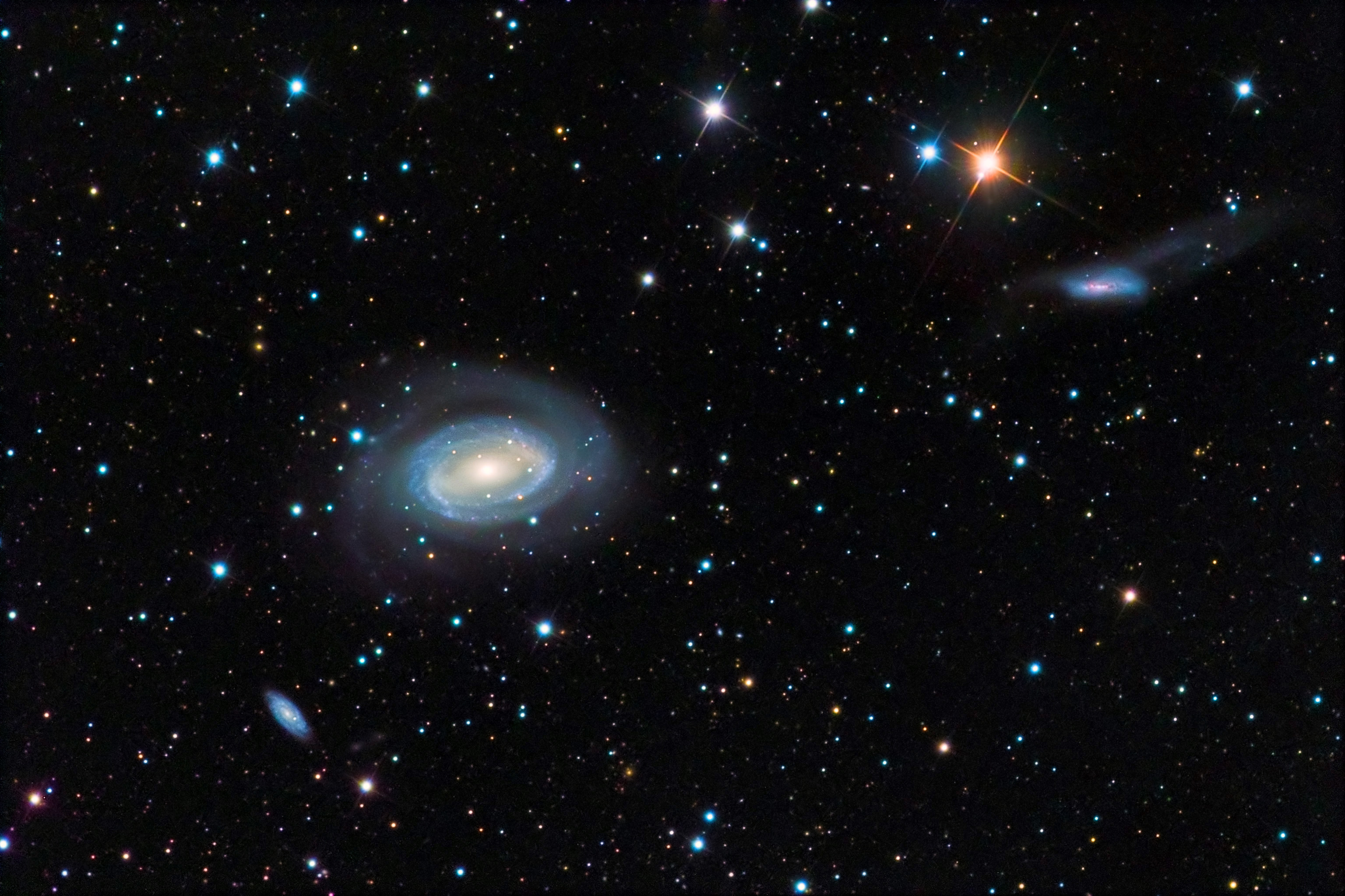 NGC 4725, NGC 4712, and NGC 4747 - Astronomy Magazine ...