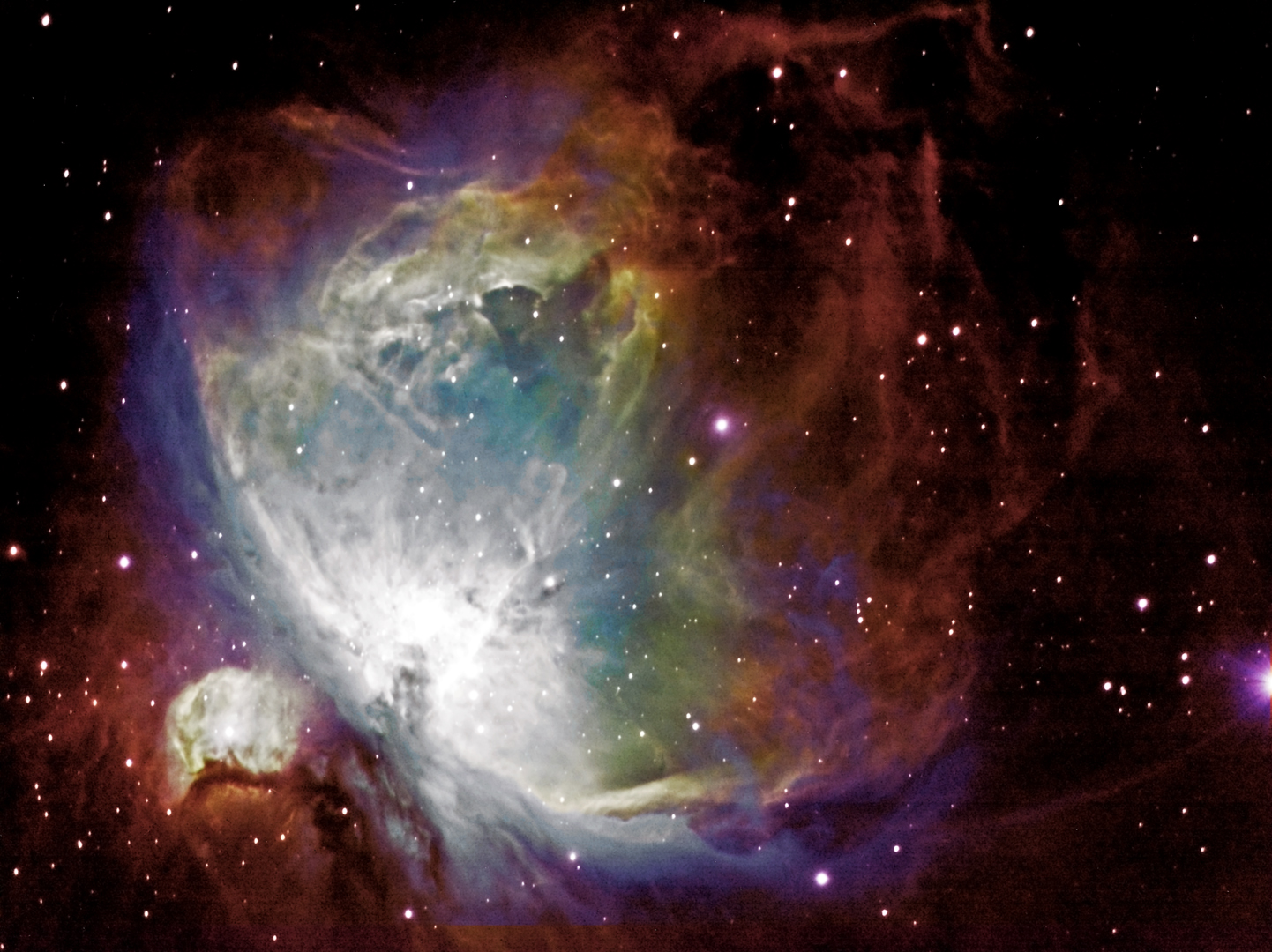 The Orion Nebula (M42) in Hubble palette - Astronomy ...