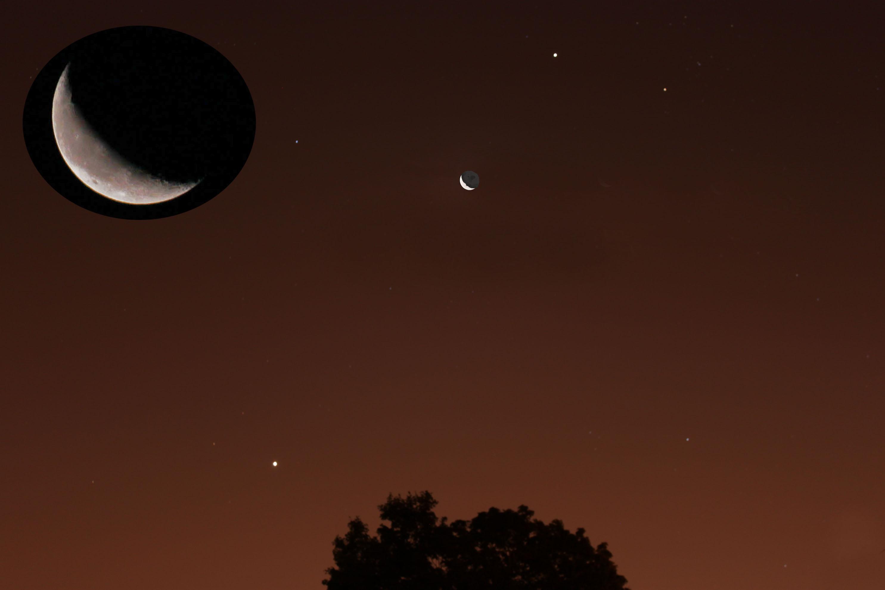 Jupiter-Moon-Venus conjunction - Astronomy Magazine