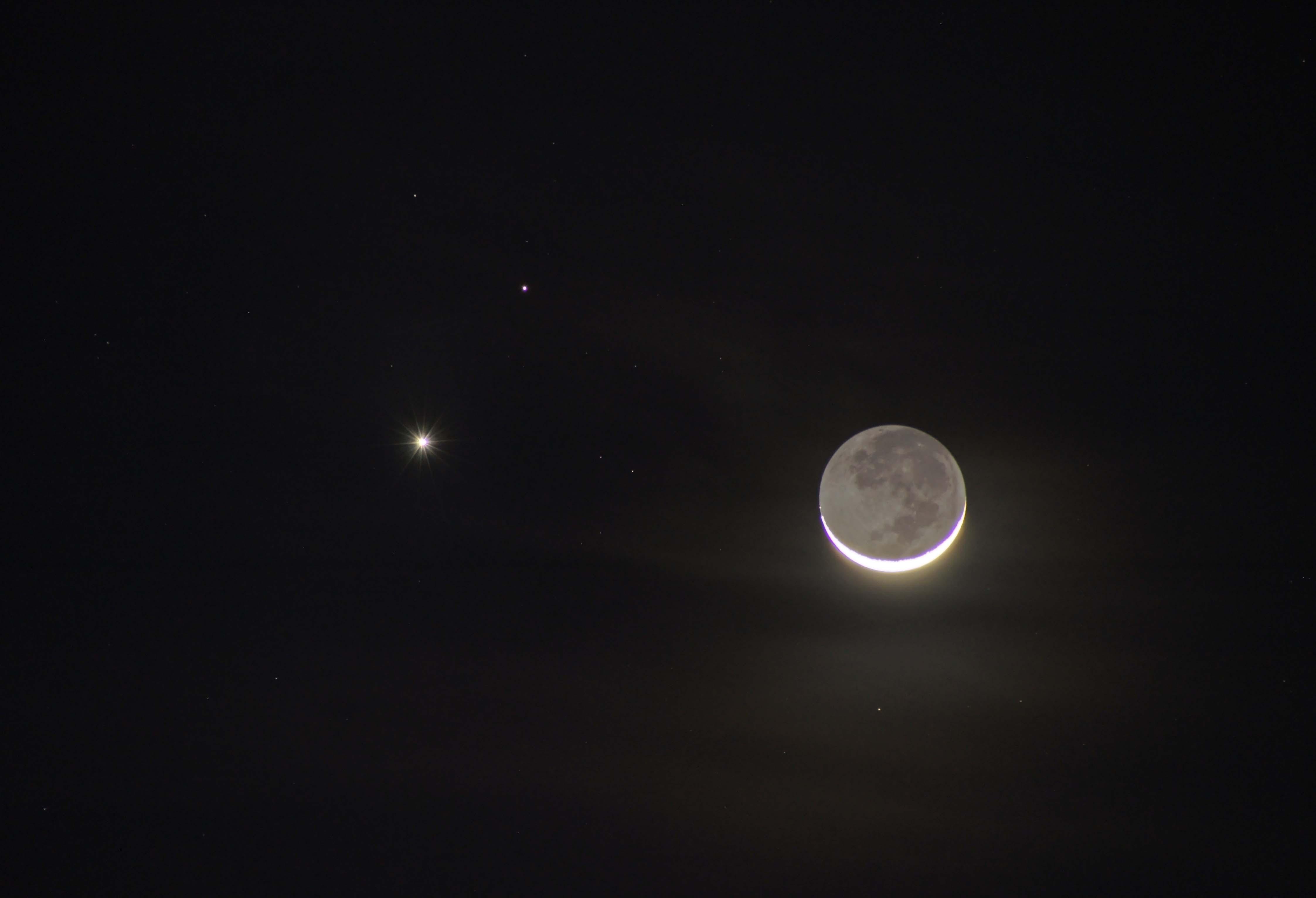 moon venus mars - HD4490×3065