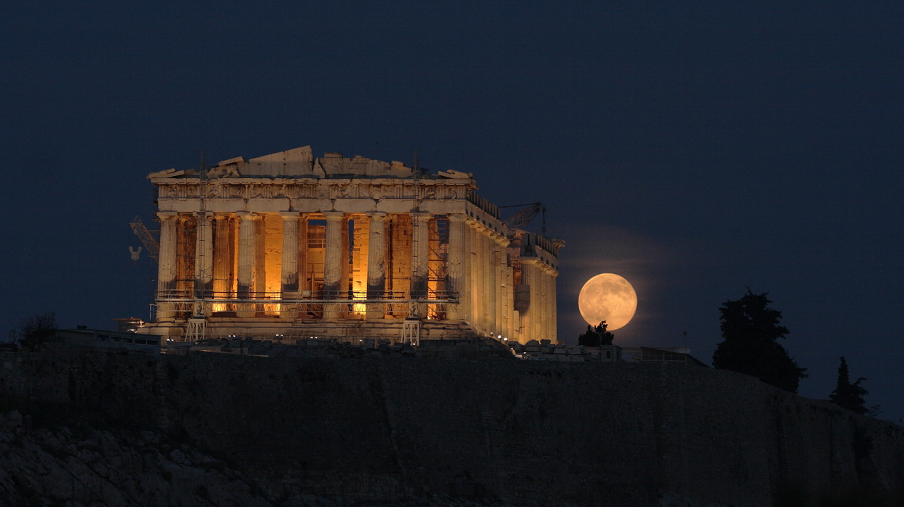 Acropolis moonrise. - Astronomy Magazine - Interactive ...
