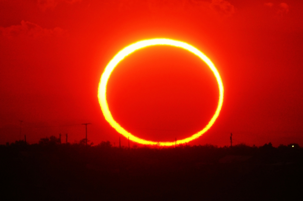 Ring Of Fire Sunset Astronomy Magazine Interactive