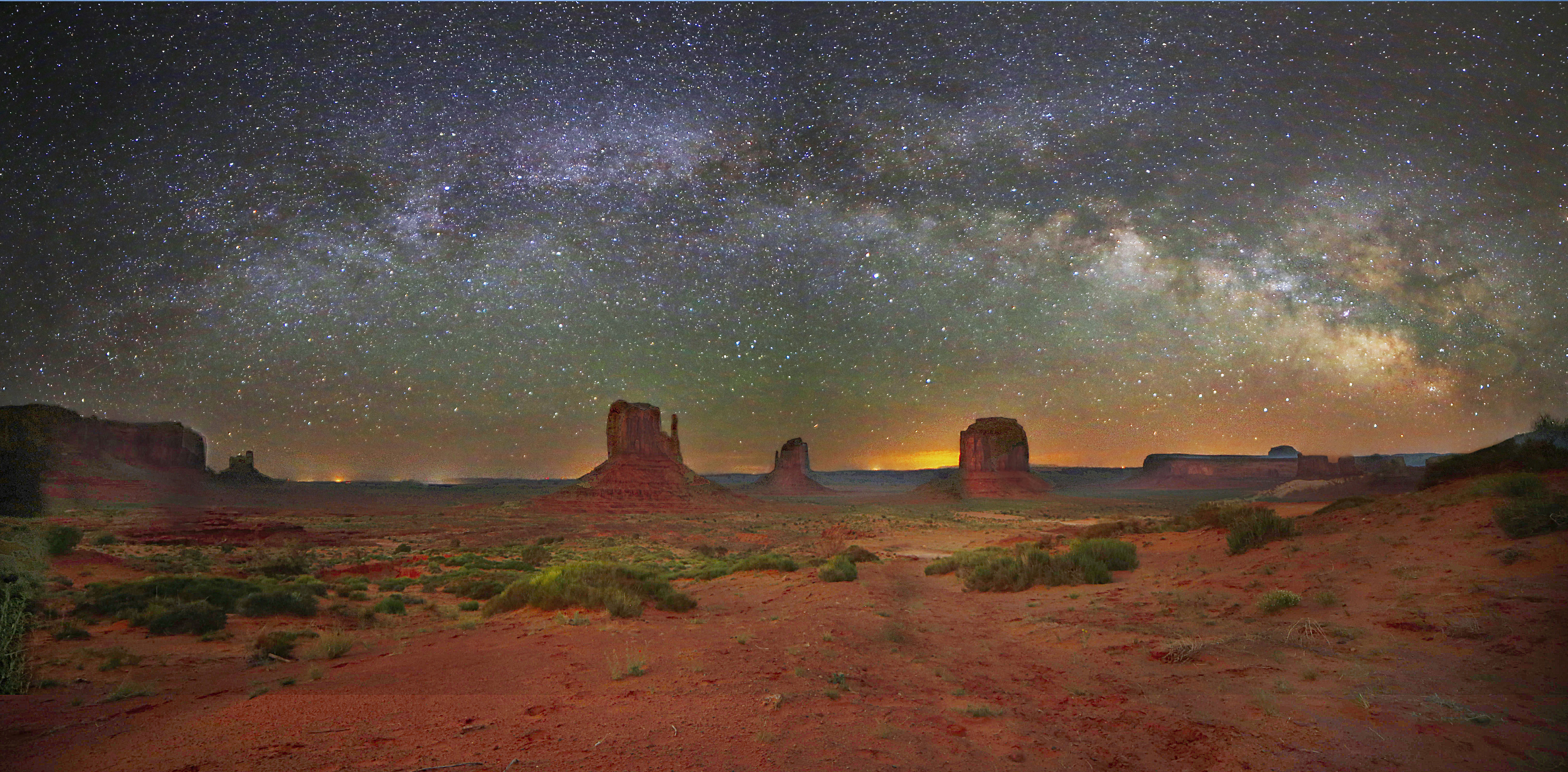The Milky Way Above Monument Valley Astronomy Magazine
