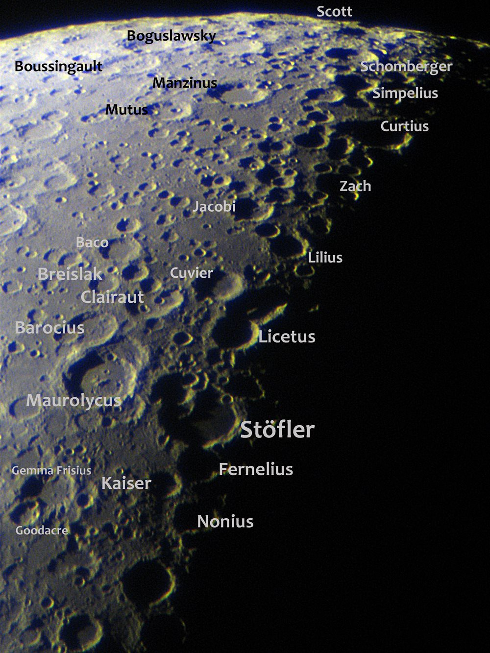 Stofler Crater And Nearby Region Astronomy Magazine