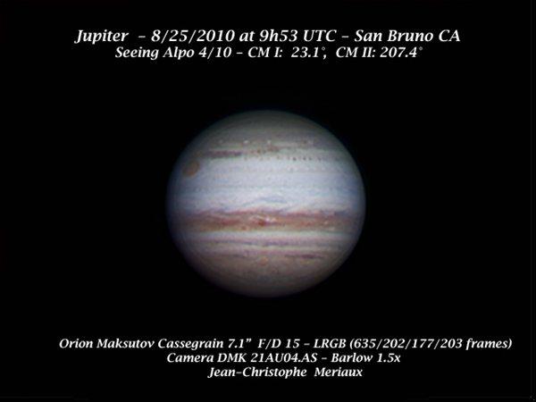 Jupiter With 7 Inch Orion Maksutov Cassegrain Astronomy